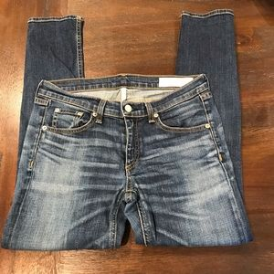 Rag & Bone Capri distressed skinny jeans